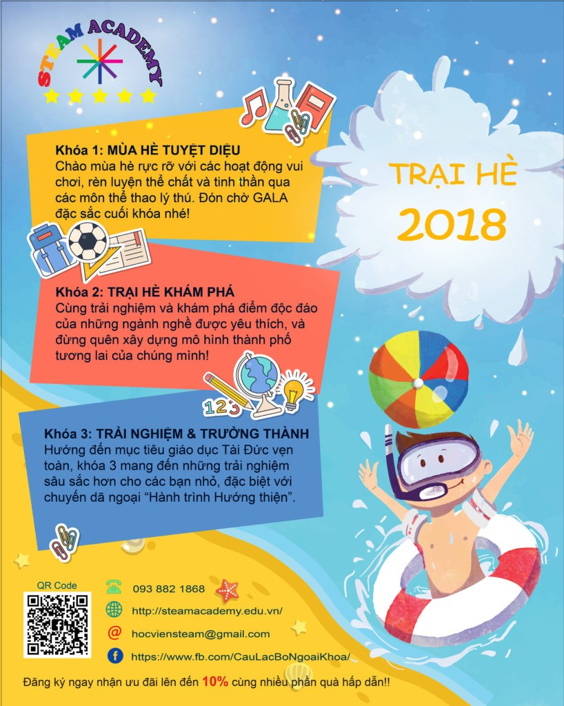 Trại hè STEAM 2018 - STEAM Summer Camp 2018