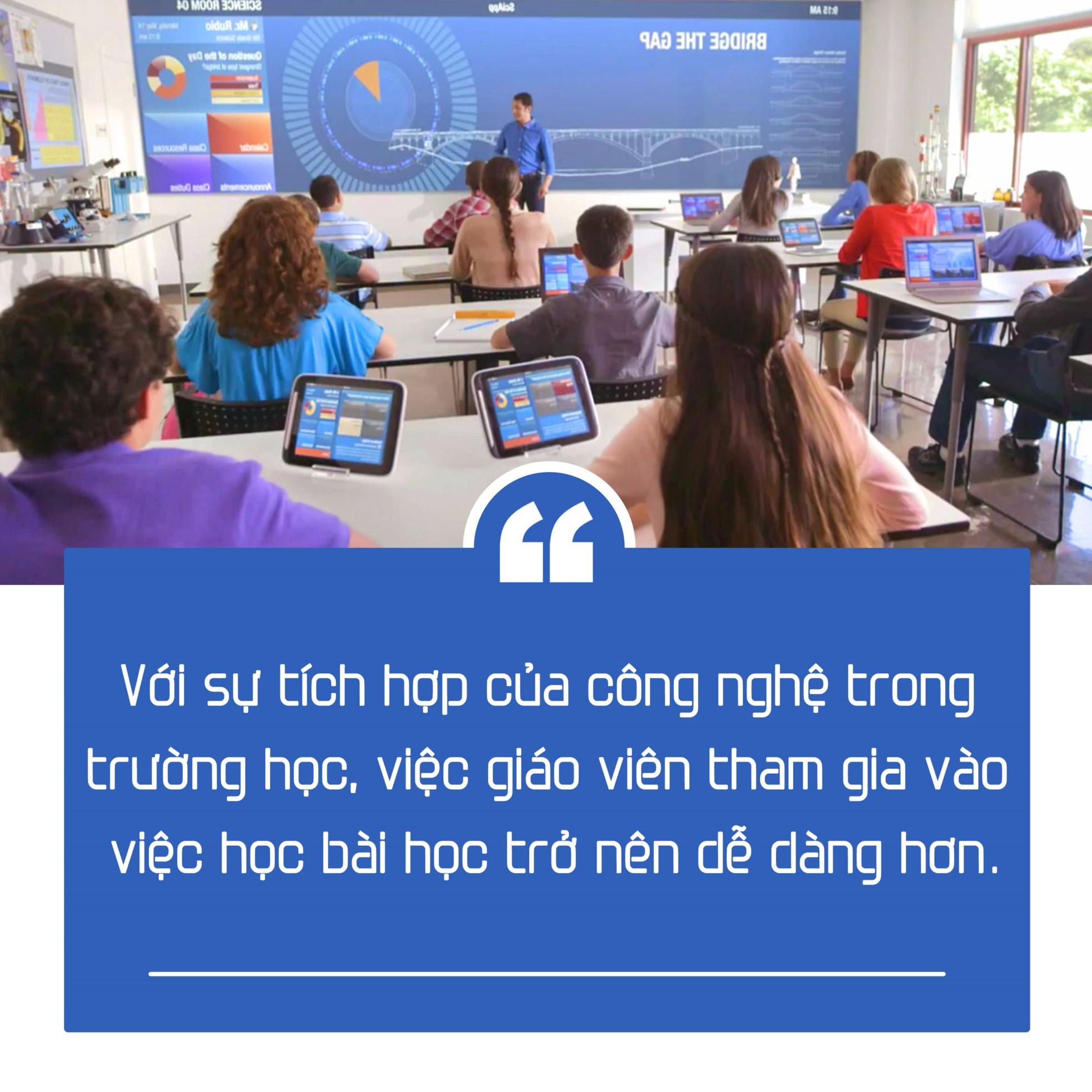 Việc học tập sẽ không còn nhàm chán mà thay vào đó sẽ vô cùng thú vị và có nhiều sự tương tác giữa giáo viên - giáo viên, giáo viên - học sinh và học sinh - học sinh